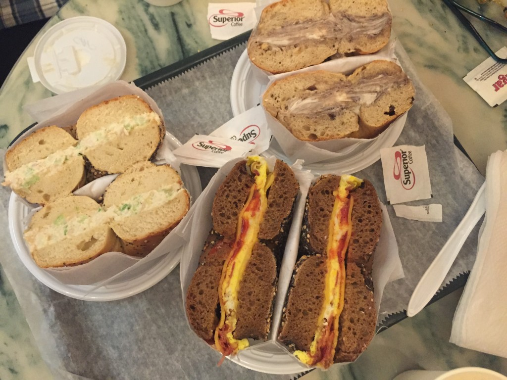 bagel sandwiches at Ess-a-Bagel, New York