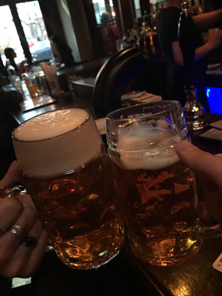 cheers at Deep Ellum, Boston Massachusetts