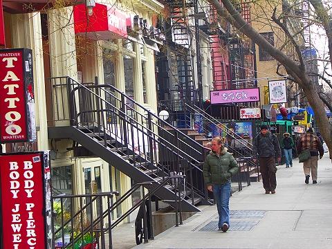 tattoo, piercing shops, East Village, Manhattan