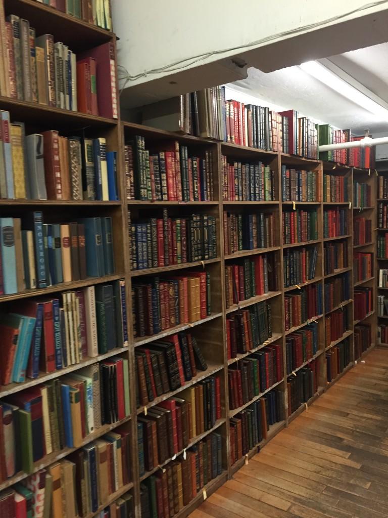 bookshelves at The Strand, East Village, New York City