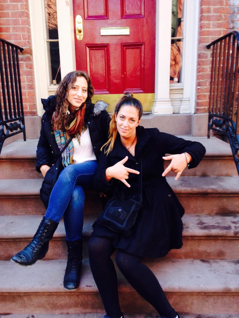on a stoop in the West Village, Manhattan
