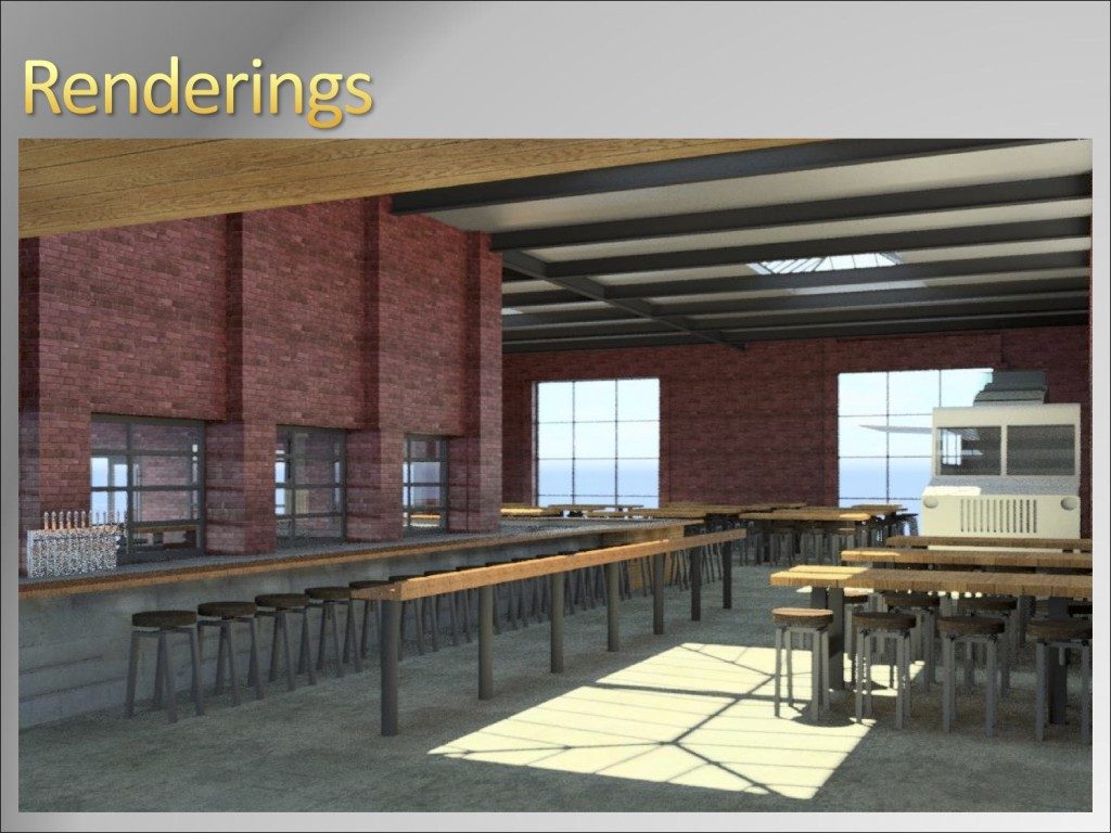 Coppersmith dining room rendering, South Boston
