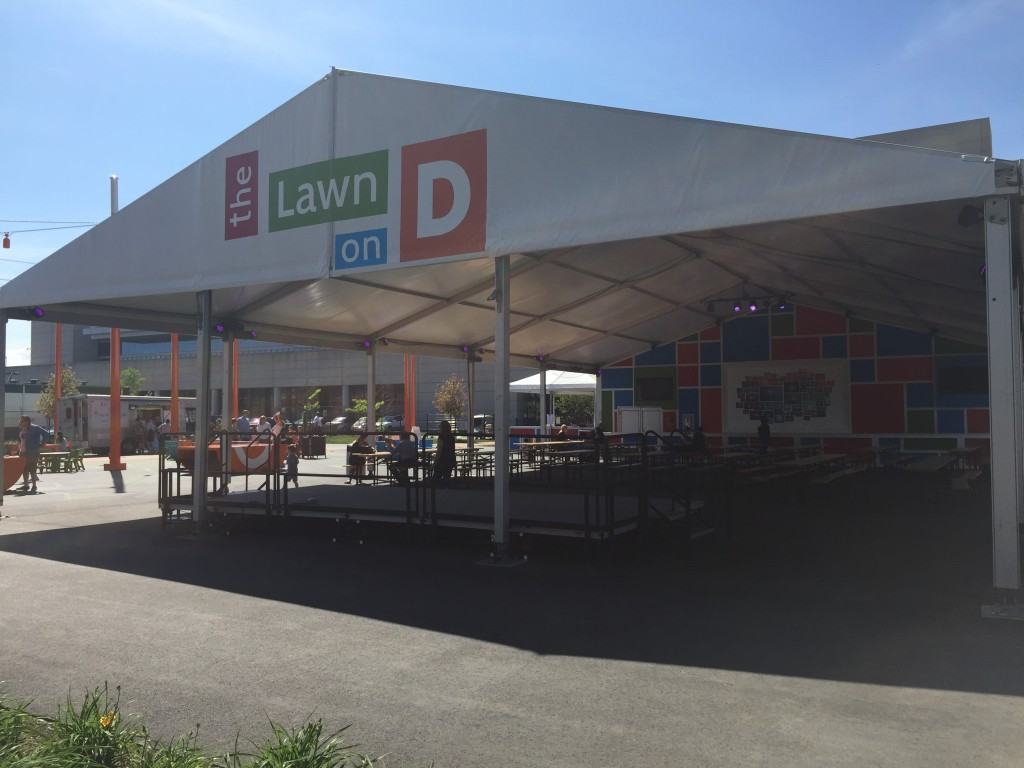 The Lawn on D event space, South Boston