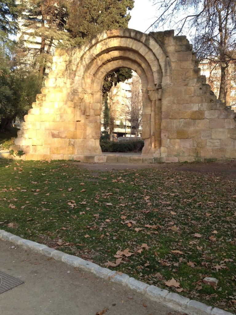 ruins in el Parque del Buen Retiro, Madrid, Spain