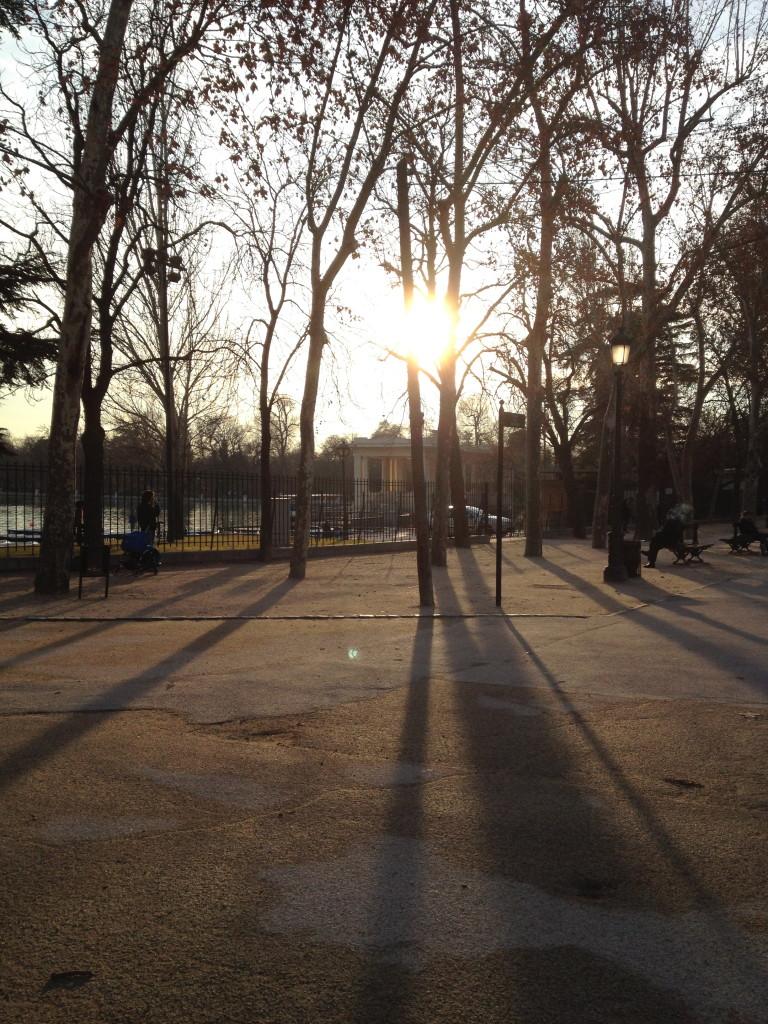in el Parque del Buen Retiro, Madrid, Spain