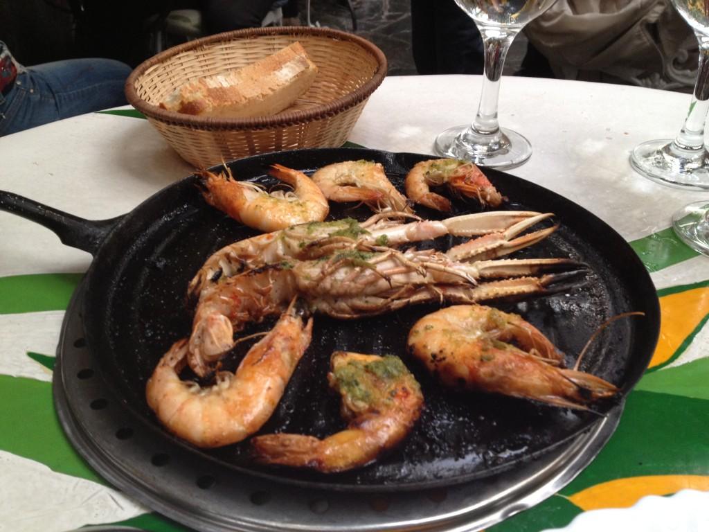 camarones at Arroceria Gala, Madrid, Spain