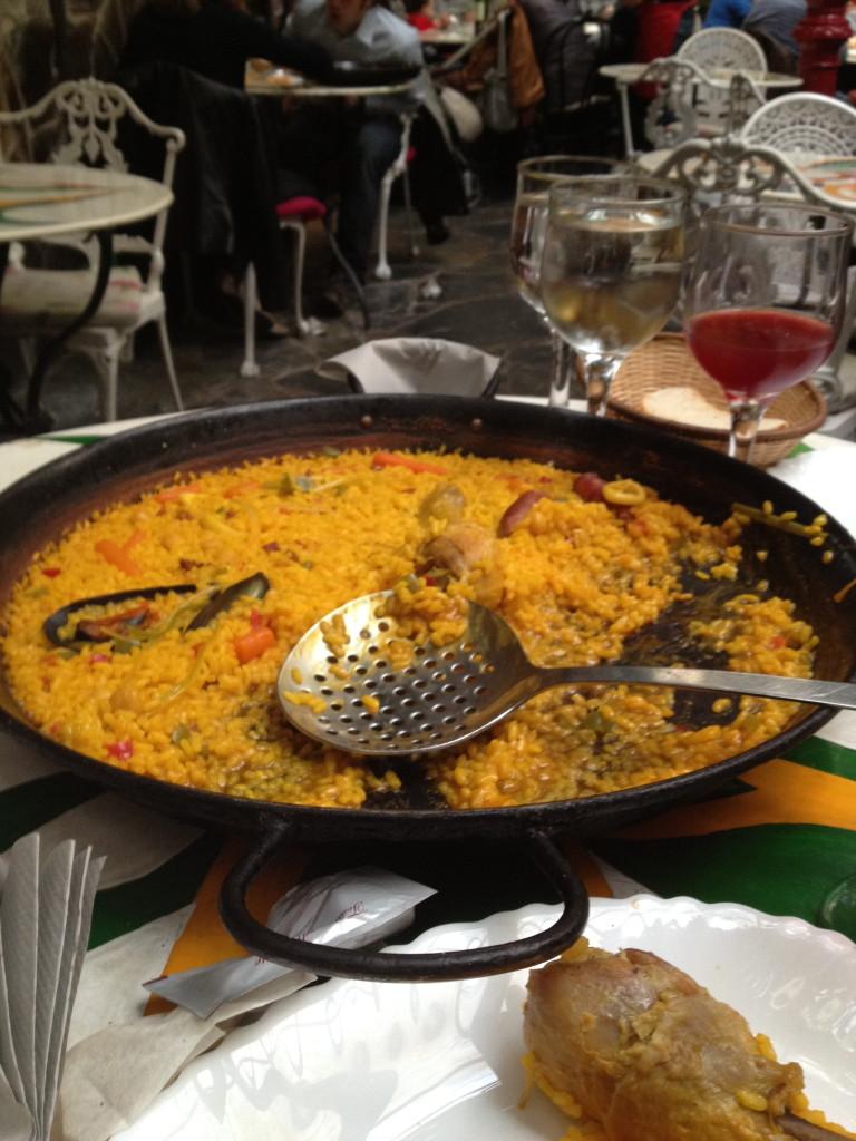 paella at Arroceria Gala, Madrid, Spain