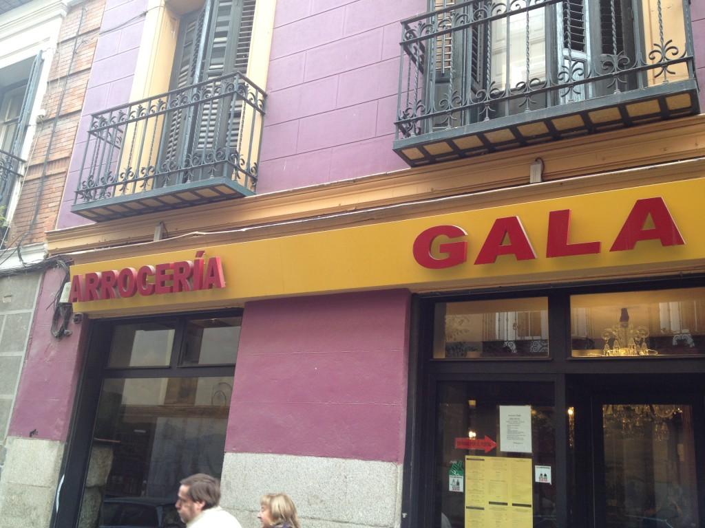 Arroceria Gala facade, Madrid, Spain