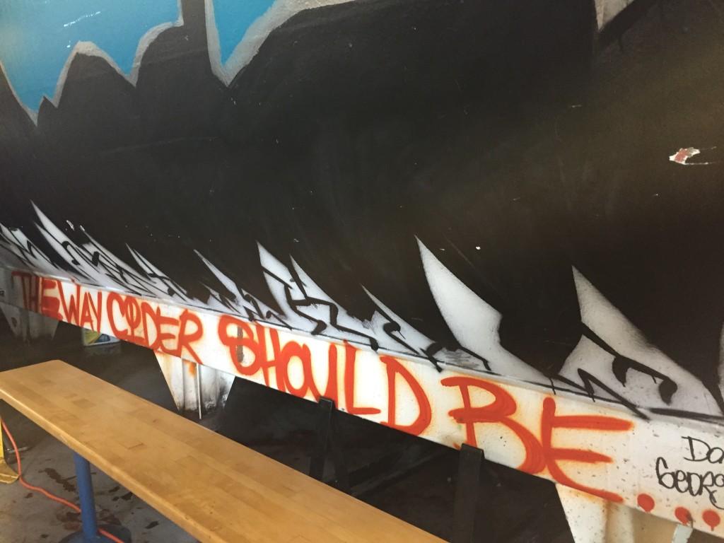 graffiti holding tank at Downeast Cidery, Charlestown, MA
