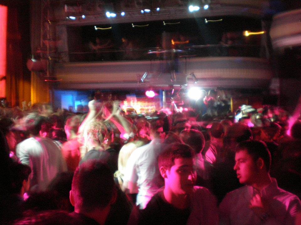 Dance floor at Kapital, Madrid, Spain