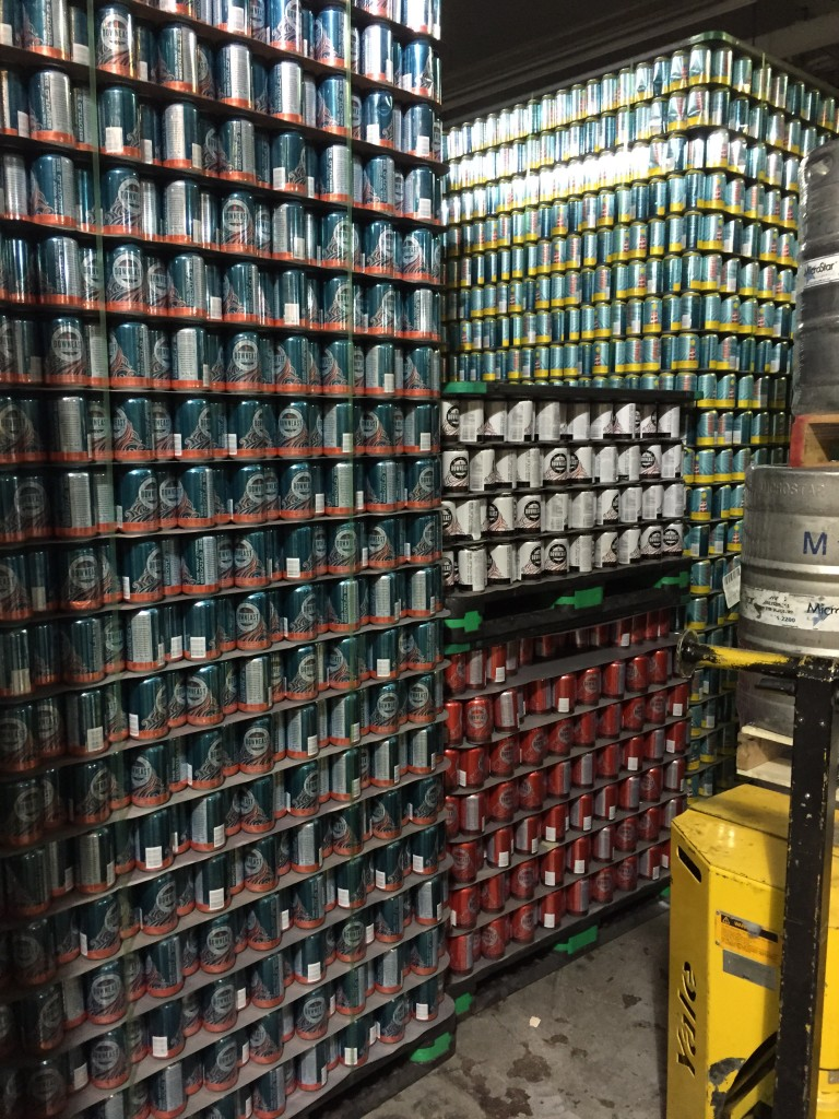 cans of Downeast Cider at the brewery, Charlestown, MA