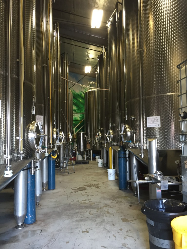 fermentation tanks at Downeast Cidery, Charlestown, MA