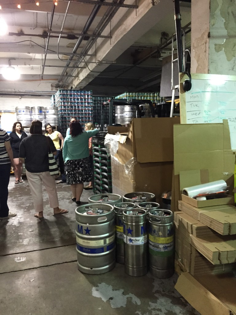 kegs and cans at Downeast Cidery, Charlestown, MA