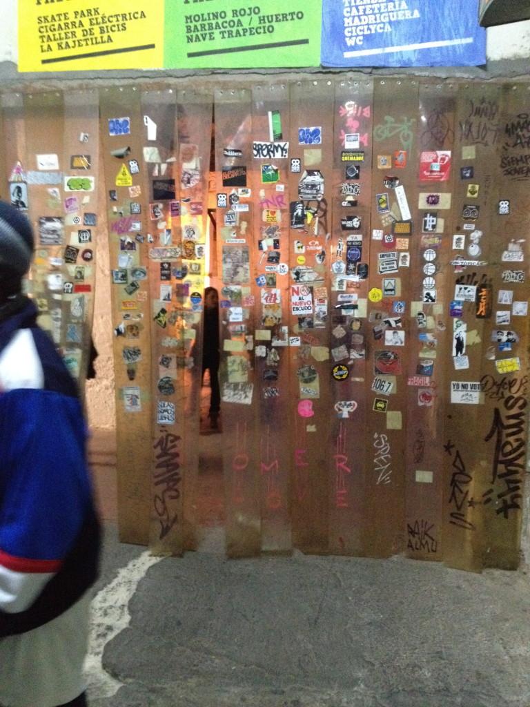 Entrance to La Tabacalera, art exhibit in Madrid