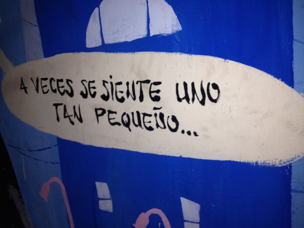 Poetic art on the walls of La Tabacalera, Madrid