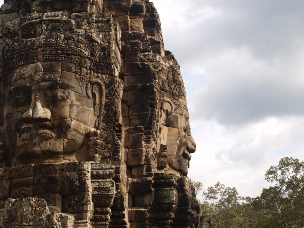 Stone faces at Bayon temple in Angkor, SIem Reap, Cambodia