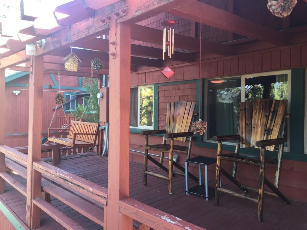 ITH Big Bear Mountain Adventure Lodge front porch, California