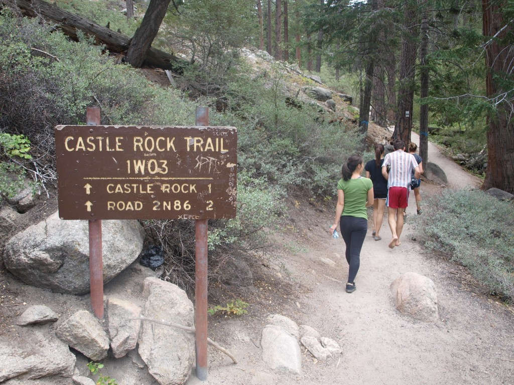 Start of Castle Rock Trail, Big Bear Lake, California