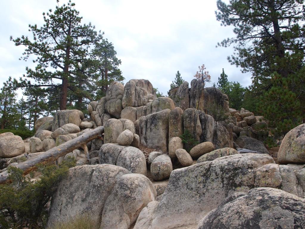 Rocks and boulders on Castle Rock Trail, Big Bear Lake, California