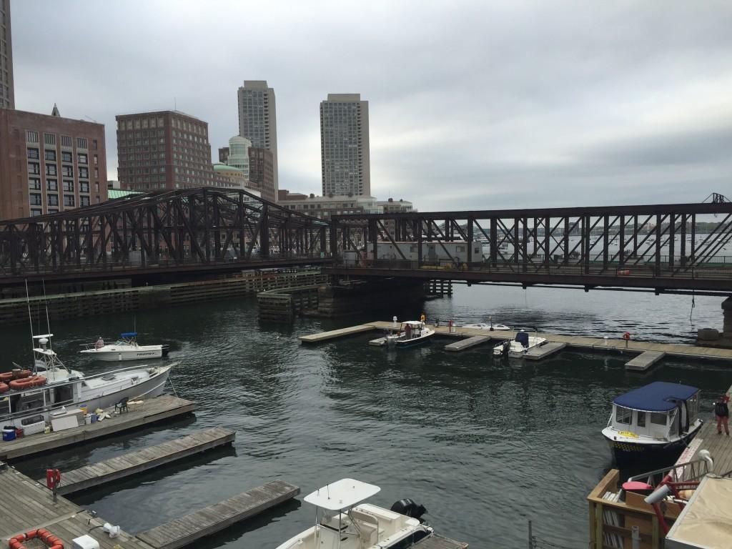 View of the Boston Harbor from Seaport Blvd, Boston
