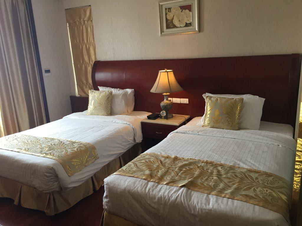 Hotel room at the Tirant Hotel, Hanoi, Vietnam