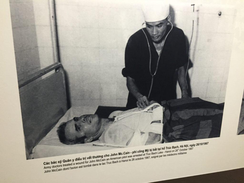 Photo of John McCain being treated in Hoa Lo Prison, Hanoi, Vietnam