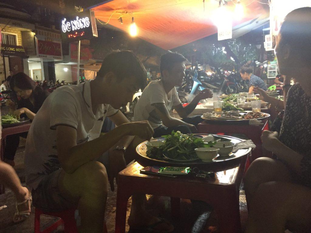 Dining alfresco, Hanoi, Vietnam
