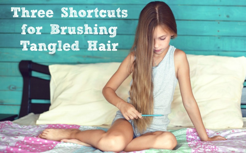 three shortcuts for tangled hair