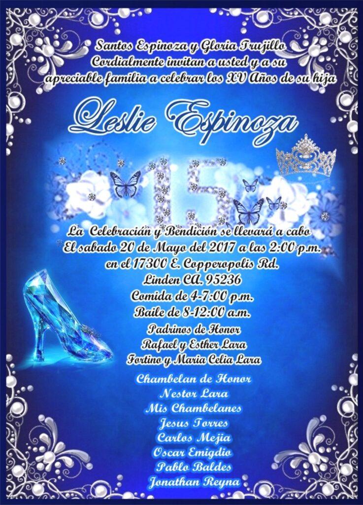Invitacion Azul