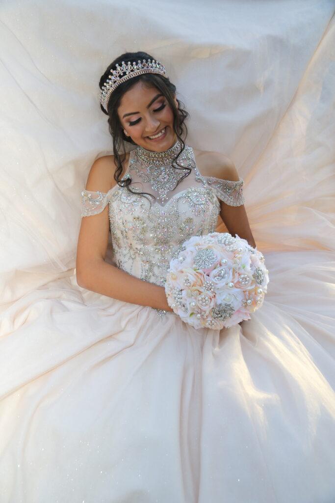 Quinceanera White Dress