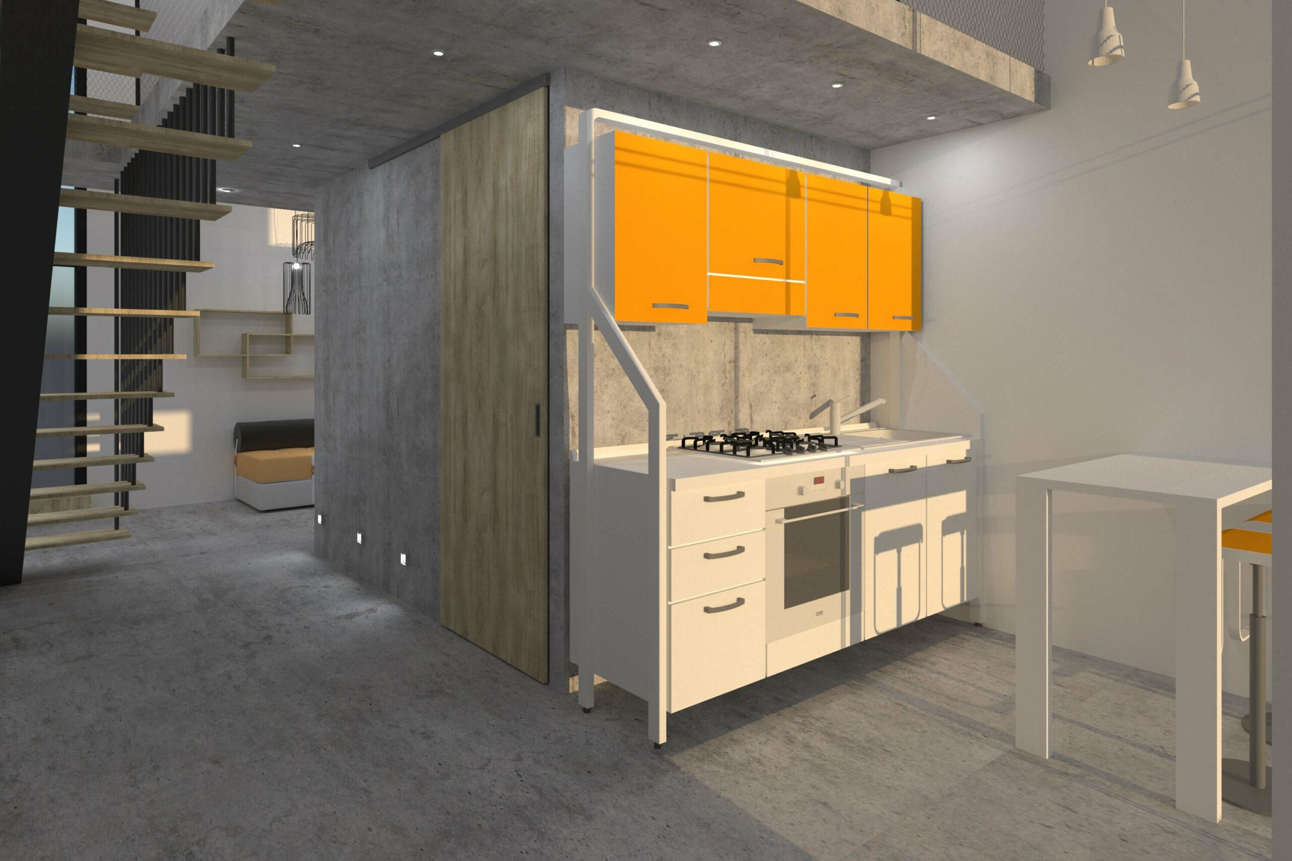 Cozinha. Modelo de cozinha modular