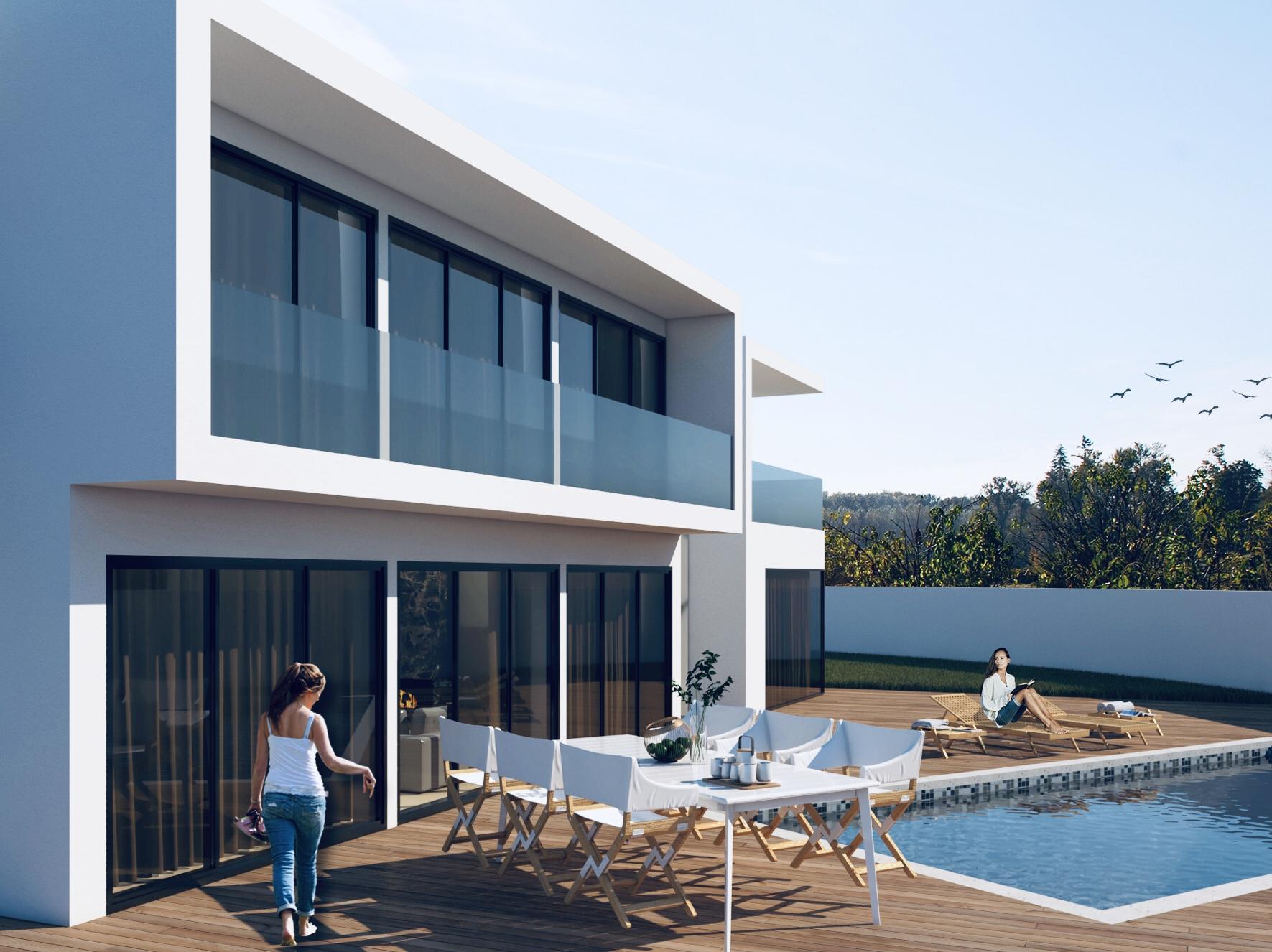 Espaço exterior da piscina