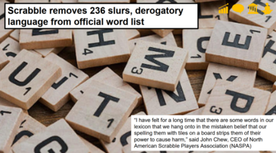 Scrabble removes offensive words