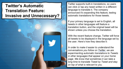 Twitter and facebook face backlash over auto translation