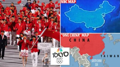 """China lashed out at Comcast Corp.'sNBCUniversal for displaying an """"incomplete"""" map of the country"""