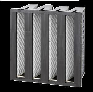 filtro de aire de particulas impregnado de carbon activado