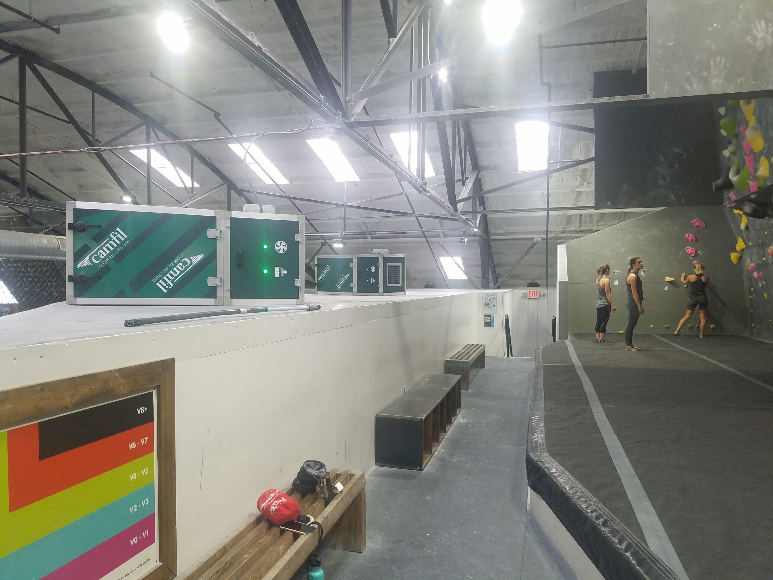 Purificadores de Aire en un gym