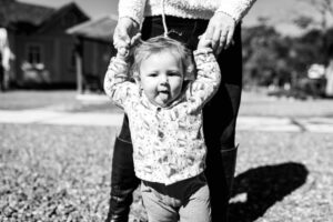 Toddler learning to walk, resilience