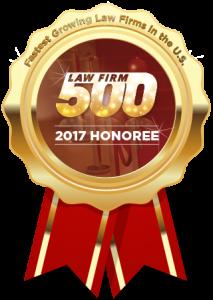 Law Firm 500 2017 Award Winner Siegel Law Group