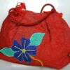 The Red Hibiscus Tote Bubble Bag