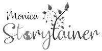 Monica Storytainer Logo Black and White