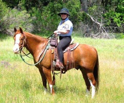 El Tapahtio w Jaede Calif. State Park Mounted Patrol - 1