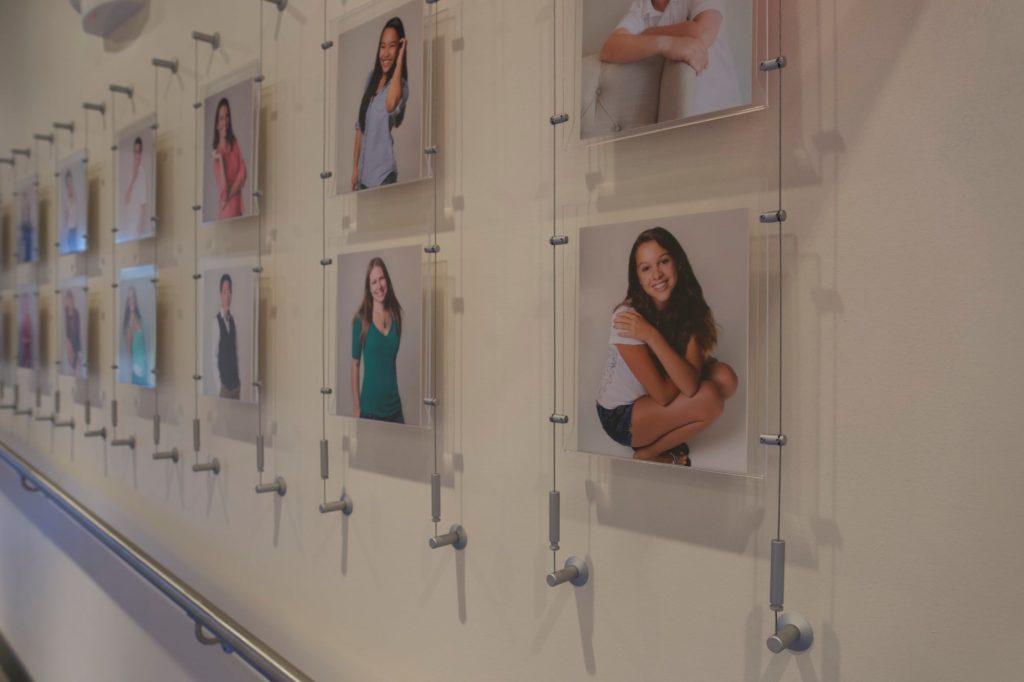 Patient portrait wall