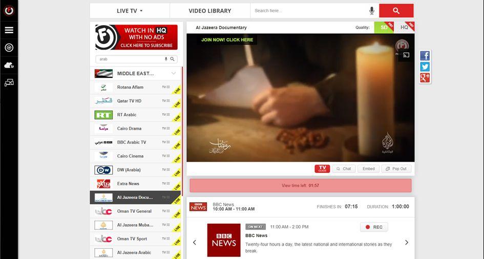 FilmOn Arabic TV Channels