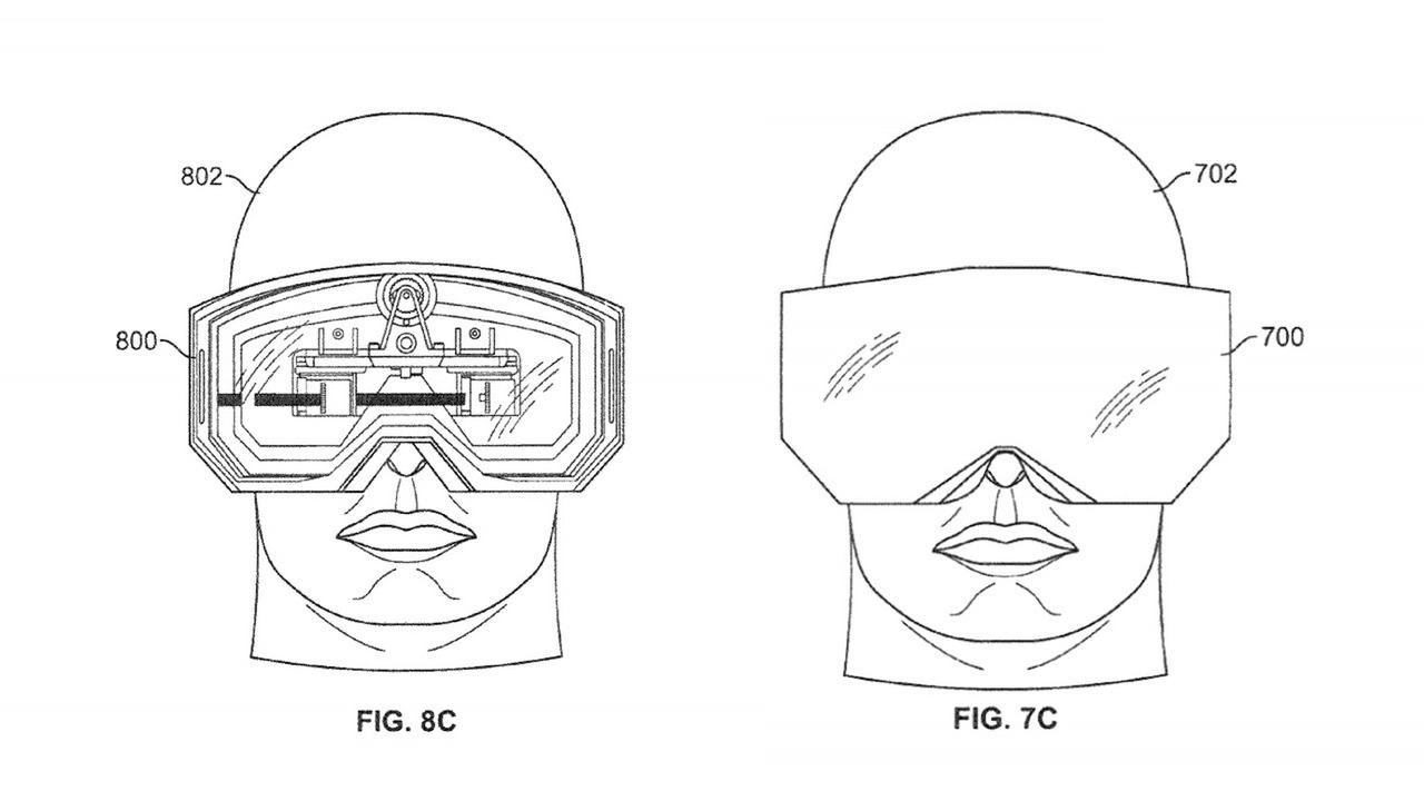 apple 8k vr headset illustrations