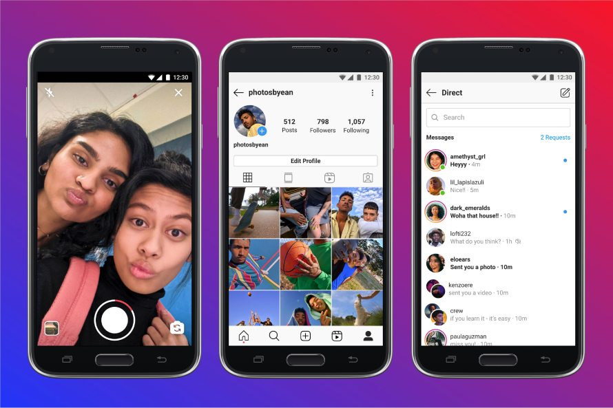 instagram lite screenshots on android