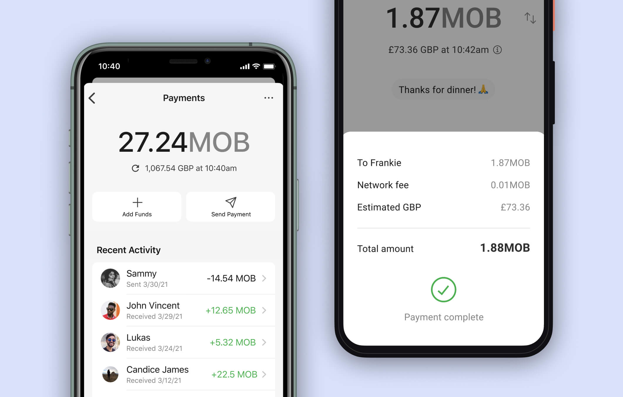 sending cryptocurrency within signal app