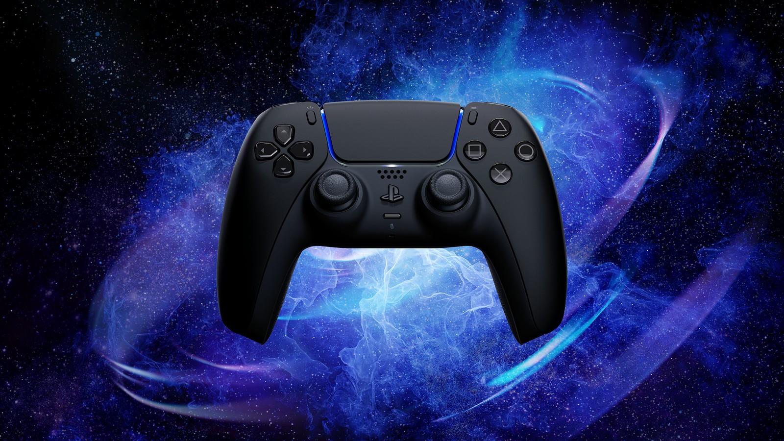 sony playstation 5 midnight black dualsense controller
