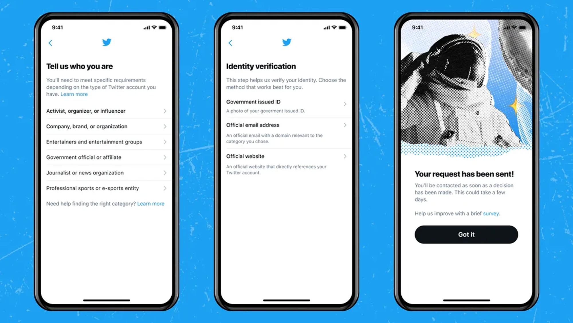 the twitter verification application