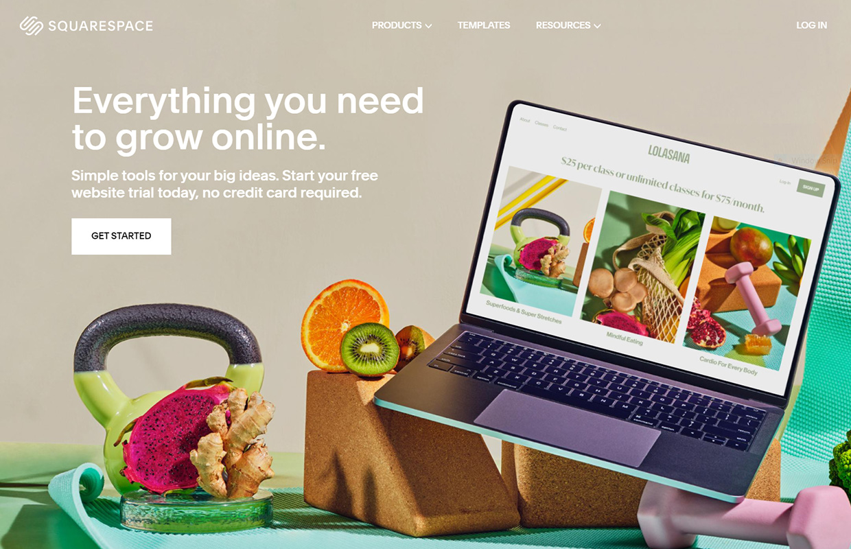 create a website squarespace homepage